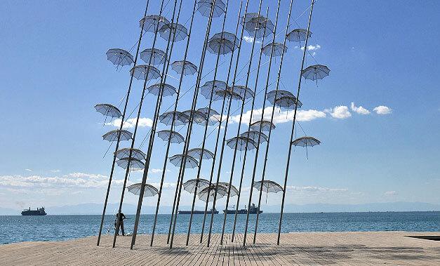Ομπρέλες Παραλία Θεσσαλονίκης